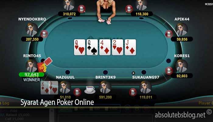 Syarat Agen Poker Online